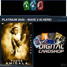 Topps Star Wars Card Trader Platinum 2020 Wave 2 Gold Padme Amidala ONLY