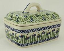 Bunzlauer Keramik Butterdose, Butterkästchen, Box für 250g Butter, (M078-MC15)