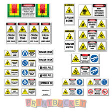 Truck With Mounted Crane risk assessment safety sticker kit hiab palfinger