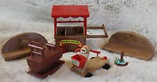 VTG 80's Lot of 6 pc Maple Town Park Playset Toys Calico Critters Doll Furniture