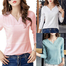 Women's Fashion Cotton Embroidery Blouse Long Sleeve Blouses Casual Shirt TopsGT