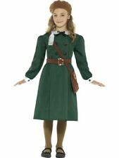 Historical WW2 Evacuee Girl Children's Costume Girls Fancy Dress Up Outfit