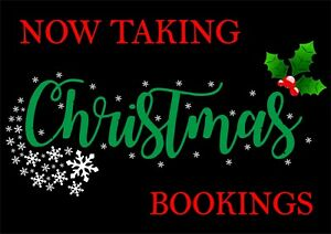 Now Taking Christmas Bookings Sign - Advertising - All Sizes & Materials