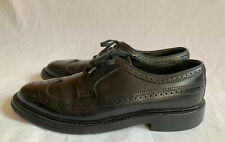 HANOVER LB SHEPPARD Signatures Black Leather Wingtip Shoes Size 9.5 D/B Goodyear