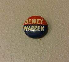 Thomas Dewey Warren 1948 campaign pin button political