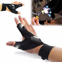 Outdoor Finger Glove with LED Light Flashlight Gear Rescue Tools Night Fishing C