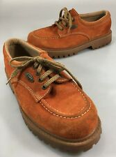NY Lugz Mens 10 US Orange Suede Oxfords Walking Shoes Made in Spain