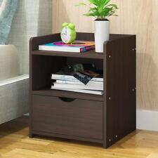 Bedside Table Night Stand Wood Cabinet Storage Side Table Drawer Home Furniture