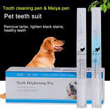 Pet Teeth Cleaning Repair 2Pcs /Kit Dog Cat Tartar Dental Stone Cleaning Pen
