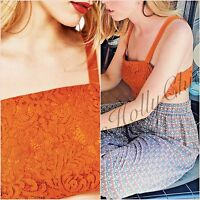 Zara Orange Lace Bralet Crop Top Size US 4 6 8  UK 8 10 12 S M L Blogger ❤