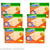 6x Swiffer Holz & Parkett 18 Bodentücher Staub Haare Schmutz Magnet Laminat
