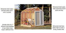 Outdoor Storage Shed Framing Kit Garden Utility Garage Tool Backyard Lawn DIY