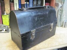 THERMOS BLACK DOME METAL LUNCH BOX PAIL COAL MINERS STEEL ALLADEN ORIGINAL 1900s