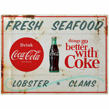 Coca-Cola Fresh Seafood Lobster Clams Wall Decal 24 x 18 Distressed