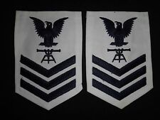 Pair Of US Navy Petty Officer E-6 Chevrons With FIRE CONTROL TECHNICIAN Rating