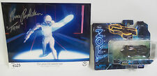 TRON : TRON PHOTO SIGNED BY BRUCE BOXLEITNER WITH GRID LIMO MODEL