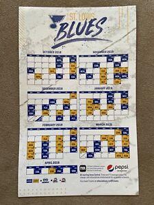 NEW St Louis Blues Magnetic Calendar SGA 10/6/18 Bobblehead Jersey Puck Stick