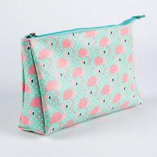 FLAMINGO Wash Bag Rosa Blu Toeletta Trucco Cosmetici da Viaggio Custodia palestra