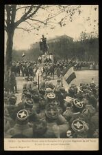 1918 Postcard WWI  Metz, Marshal Philippe Pétain Riding Saluting Troops