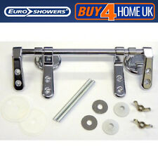 Euroshowers Chrome Bar Hinge Toilet Seat Fixings - Replacement Fittings SP5