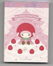 Sanrio My Melody Notepad Mini Sticker Japan Melody's Friend Piano