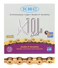 CHAIN KMC 1/2x3/32 X10L GOLD