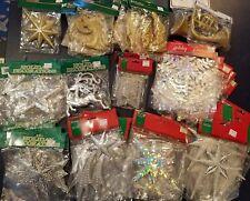 Huge Lot 60 Vintage Christmas Ornaments New NIP NOS Glitter Diecut Holographic