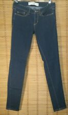 ABERCROMBIE & FITCH SIZE 2 SHORT W26 L29 DARK WASH SUPER SKINNY WOMEN'S JEANS