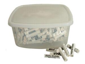 250 Aktiv-Kohlefilter in der wiederverwendbaren Plastikbox