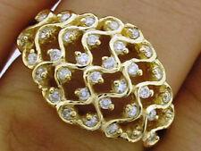 Diamond Dome Natural Stone Fine Rings
