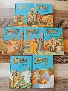 THE BIBLE STORY - Arthur Maxwell books 1,4,5,6,7,8,10 Vintage Child's Hardcovers
