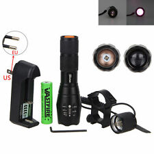 OSRAM Infrared LED 940nm 7W IR Night Vision Flashlight +18650+Mount+Charger New