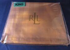 Ralph Lauren Suite Glen Plaid Camel King Bedskirt - New in Package
