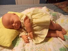 Vtg 1984 Life-like Berjusa Sleeping Newborn Vinyl & Cloth Baby Doll 21� Reborn