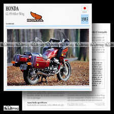 #071.16 HONDA GL 650 SILVER WING 1983 (SILVERWING) Fiche Moto Motorcycle Card