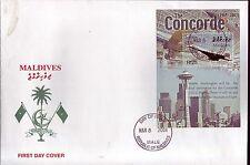 5116+ CONCORDE   1er JOUR BLOC    MALDIVES  2004