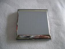 1 Gang Tornillos De Metal Placa en blanco en cromo pulido acabado único de Placa en blanco