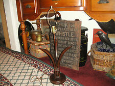 Vintage Mid Century Modern Wood Table Lamp-3 Pieces Of Wood Bending Open-#1