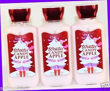 3 Bath Body Works Holiday Winter Candy Apple Body Lotion Shea & Vitamin E