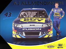 2011 AJ Allmendinger Best Buy Ford Fusion NASCAR postcard
