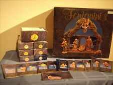 """Fontanini Heirloom Christmas Nativity 5"""" Collection Wood Stable Several Animals"""