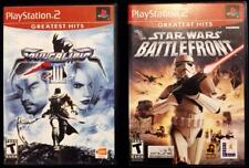 PS2 PlayStation 2 -LOT of 2 Games: SOUL CALIBER III and STAR WARS Battlefront