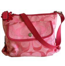 Coach Kyra Women's Signature CrossBody Messenger Pink Handbag Purse $228 Auth.