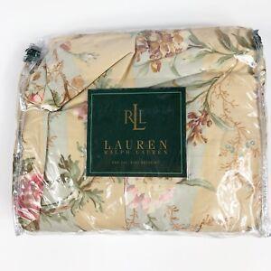 Ralph Lauren HIGHFIELDS Large FLORAL CAL KING Bedskirt 1stQ Made In USA RARE