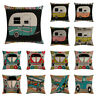 """18""""*18"""" Cotton Linen Cartoon Car Pillow Case Sofa Cushion Cover Home Decor"""
