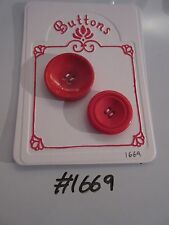 #1669 Lot of 2 Red Buttons