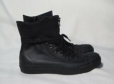 CONVERSE ALL STAR X-HI LEATHER BLACK SNEAKERS WOMENS SIZE 10.5  / MENS SIZE 9.5