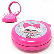 Pink LOL Surprise Compact Mirror And Pop Up Hairbrush/ New