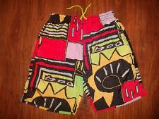 vintage 80`s Nylon shorts beach pants olschool glanz neon surf new wave 52 L XL