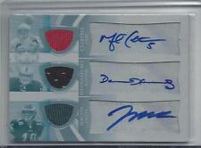 PERCY HARVIN HAKEEM NICKS BRITT 09 TRIPLE THREADS WHITE WHALE JERSEY AUTO RC 1/1